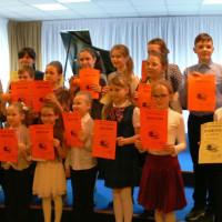 Результаты школьного конкурса исполнителей на фортепиано